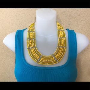 Yellow  Color Multiple Necklace